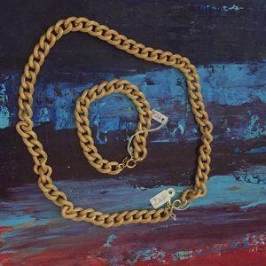 Jewelry - Bracelet and necklace set fashion jewelery